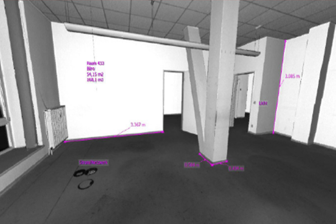 Area referencing with 3D laser scanning